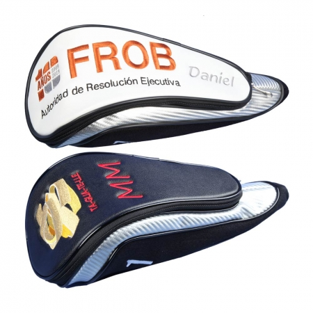 Custom stitched driver head cover: Company logo