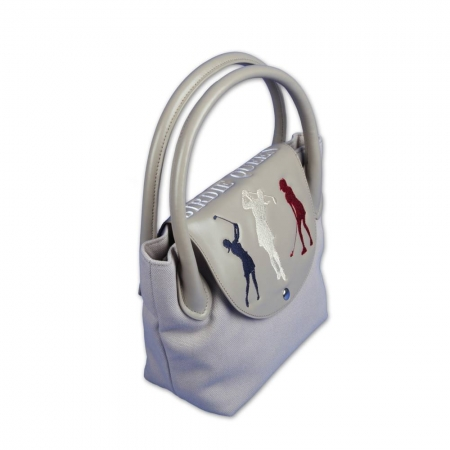 "Ladies Set! Golfbag Typ Cartbag GENEVE & Golf-Handtasche ONLY YOU: Design ""BIRDIE QUEEN"""