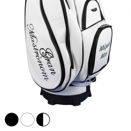 Golf bag / cart bag. Custom stitched on front and sides with a monogramm