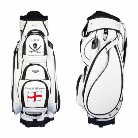 Golf bag / cart bag type MADEIRA in WHITE. Design 2 custom areas online