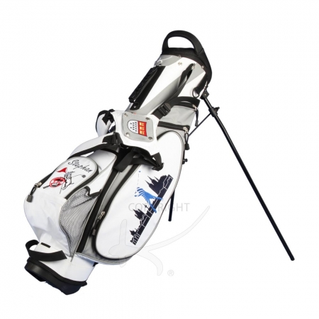 Golfbag / pencil stand MARRAKESH in white. Design 4 custom areas
