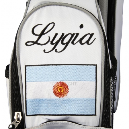 "Sac de golf 7,5"" trépied MARRAKESH en blanc: drapeau national"