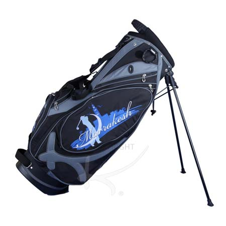 Custom stitched golf bag / stand bag in black or white. Design 5 custom areas by yourself.