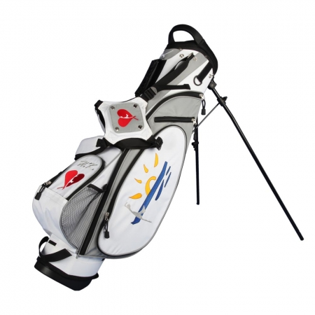 "Golf bag 7,5"" stand bag MARRAKESH in white. Design 4 custom areas"