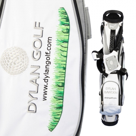 Sac de golf pencil MARRAKESH en blanc: Logo d'entreprise