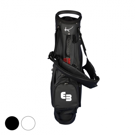 Golf bag / stand bag WATERVILLE in black or white: NAME/INITIALS