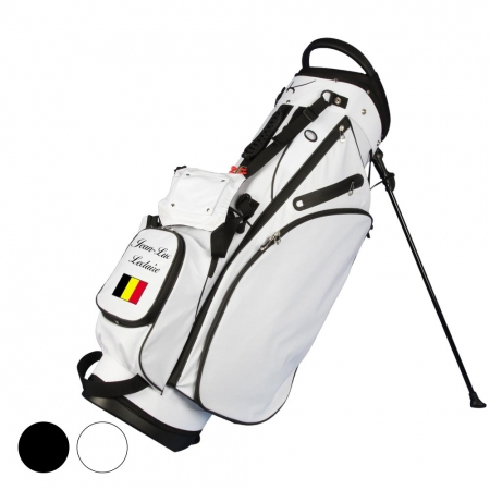 Golf bag / stand bag WATERVILLE in black or white: FLAG/NAME