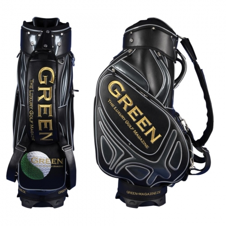 Golf bag / tour staff bag. 7 areas custom stiched. Online design tool.