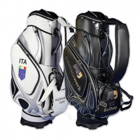 Golfbag Typ Tourbag MONTROSE. Corporate Design auf 5 Bereichen