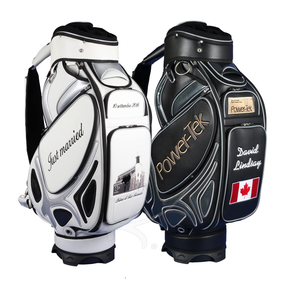 Golf Bag Tour In Black Or White Custom Sched With A Company Logo