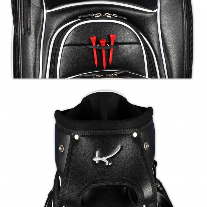 Golf bag / cart bag. Custom stitched with player's name or initials.