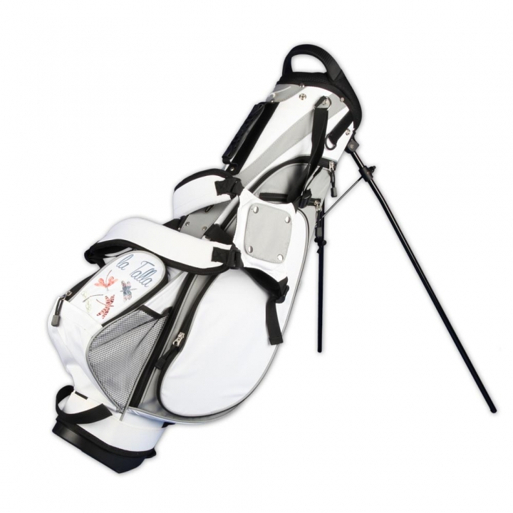 Golfbag / pencil stand MARRAKESH in white. Design 1 custom area