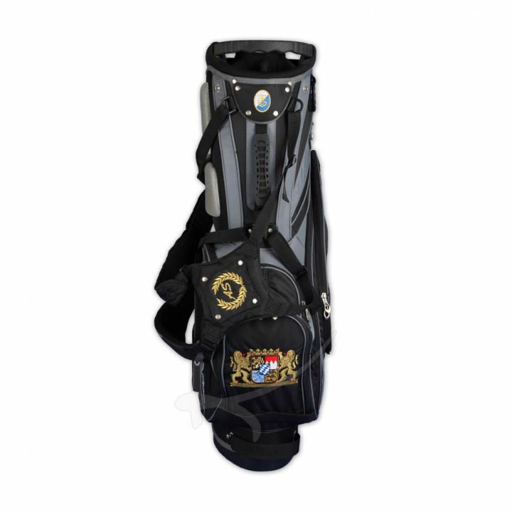 Custom stitched golf bag / stand bag in black, white or pink. Design 5 custom areas by yourself.