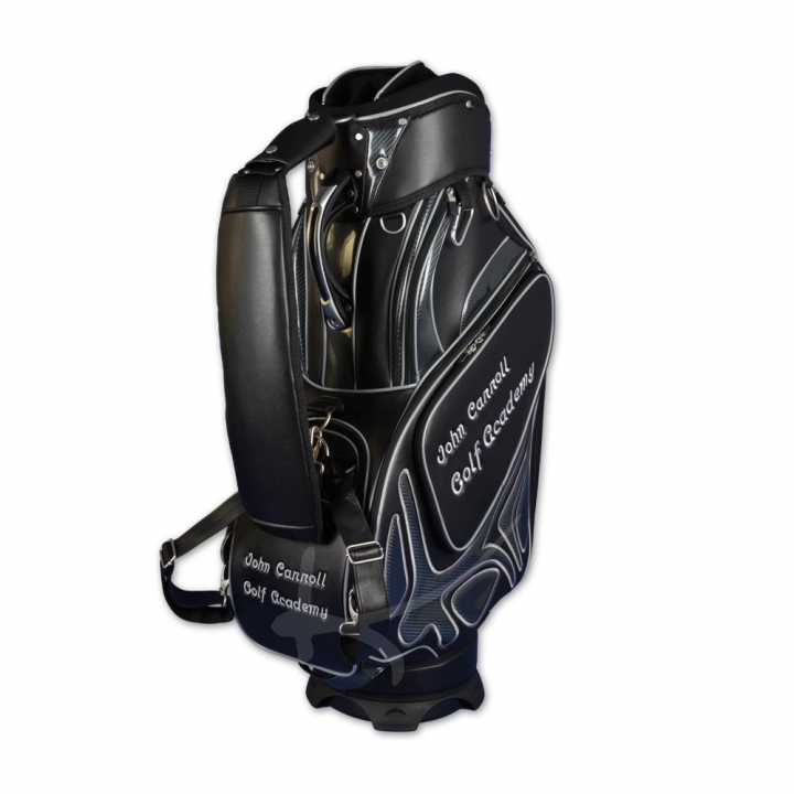 Golf bag / tour staff bag. 5 areas custom stiched. Online design tool.