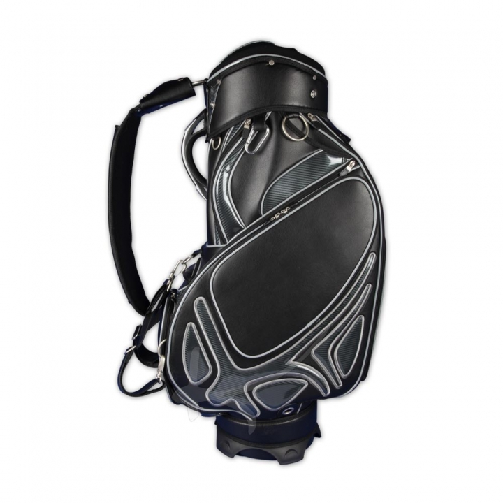 Golf bag / tour staff bag. Front and ball pocket custom stiched. Online design tool.