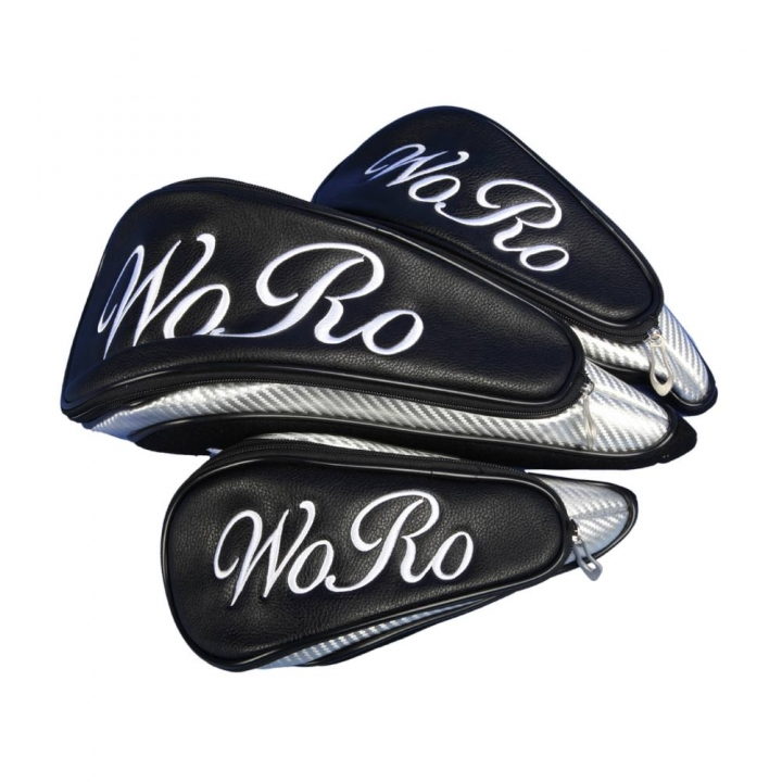 Head cover set 3 pieces custom stitched with a lettering or a monogram in a standard font