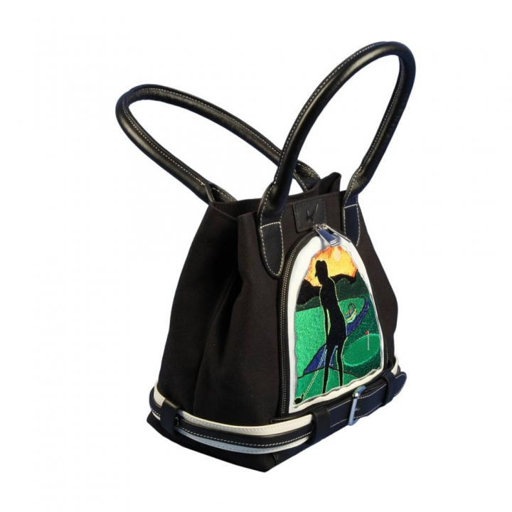 Handbag for ladies golfers. Custom stitched