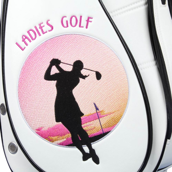 "Ladies Set! Golfbag Typ Cartbag MADEIRA & Golf-Handtasche MY WAY: Design ""LARGE SKY"""