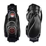 Golf bag / cart bag type MADEIRA in BLACK. Design 2 custom areas online