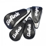 Custom-stitched head cover set in BLACK 4 pcs. Head covers for woods 1, 3, 5, X. SAME design