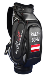golf bag / tour bag mit Flagge